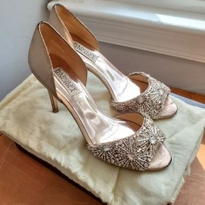 Badgley Mischka Maria D'Orsay Pumps Rose Gold 6.5